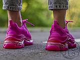 Жіночі кросівки Balenciaga Triple S Clear Sole Dark Pink 544351W2FG15059, фото 5