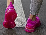 Жіночі кросівки Balenciaga Triple S Clear Sole Dark Pink 544351W2FG15059, фото 6