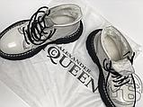 Женские ботинки Alexander McQueen Tread Lace Up Ankle Boot White 595469WHQSG9089 (с мехом), фото 3