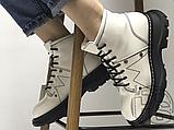 Женские ботинки Alexander McQueen Tread Lace Up Ankle Boot White 595469WHQSG9089 (с мехом), фото 5