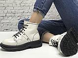 Женские ботинки Alexander McQueen Tread Lace Up Ankle Boot White 595469WHQSG9089 (с мехом), фото 6