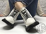 Женские ботинки Alexander McQueen Tread Lace Up Ankle Boot White 595469WHQSG9089 (с мехом), фото 7