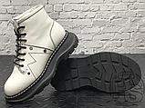 Женские ботинки Alexander McQueen Tread Lace Up Ankle Boot White 595469WHQSG9089 (с мехом), фото 8