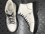 Женские ботинки Alexander McQueen Tread Lace Up Ankle Boot White 595469WHQSG9089 (с мехом), фото 9