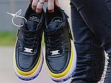 Жіночі кросівки Nike Air Force 1 Jester XX Black Sonic/Yellow Arctic Orange AT2497-001, фото 2