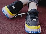 Жіночі кросівки Nike Air Force 1 Jester XX Black Sonic/Yellow Arctic Orange AT2497-001, фото 3