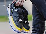 Жіночі кросівки Nike Air Force 1 Jester XX Black Sonic/Yellow Arctic Orange AT2497-001, фото 4