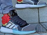 Чоловічі кросівки Adidas Marquee Mid Boost Marvel Thor White Grey Red EF2258, фото 8