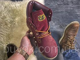 Женские ботинки Caterpillar Colorado Boot Winter Bordo (с мехом) P710655