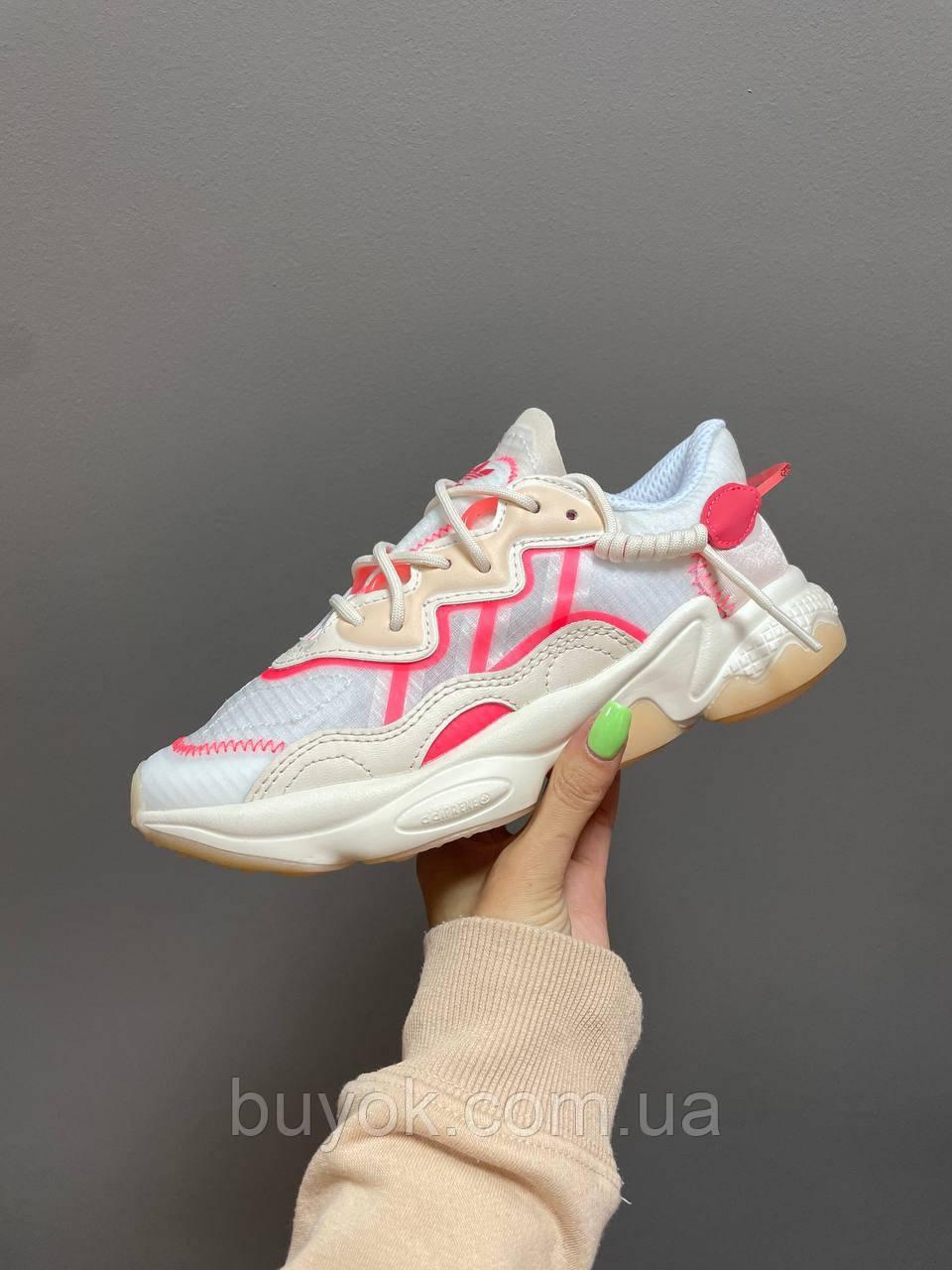 Жіночі кросівки Adidas Ozweego White Pink Beige