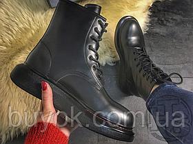 Женские кроссовки Alexander McQueen Lace-Up Boots Black