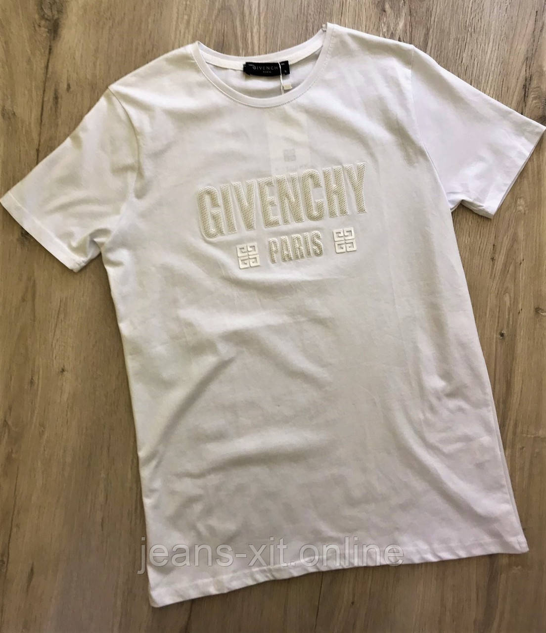 Футболка мужская L(р) белая 1720-20 Givenchy Турция Лето-C