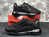 Чоловічі кросівки Nike Air Max 720 Triple Black AO2924-004, фото 2