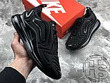 Чоловічі кросівки Nike Air Max 720 Triple Black AO2924-004, фото 3