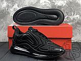 Чоловічі кросівки Nike Air Max 720 Triple Black AO2924-004, фото 6