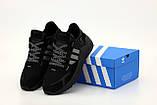 Чоловічі кросівки Adidas Nite Jogger Core Black Carbon Black Boost BD7954, фото 5