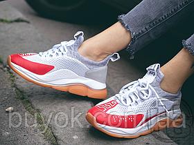 Жіночі кросівки Versace Cross Chainer Sneakers Grey Red DSR857G-D23TG_DSW_350_DWRN