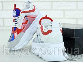 Жіночі кросівки Versace Chain Reaction 2 Chainz White DSR705G D3TSV