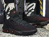 Мужские кроссовки Nike LeBron 16 Fresh Bred Black University Red AQ2465-002, фото 2