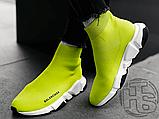 Жіночі кросівки Balenciaga Speed Trainer Yellow BB, фото 7