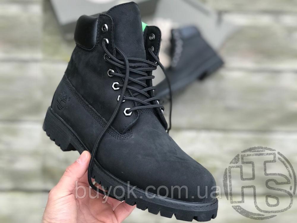 Женские ботинки Timberland Classic Boots Black Winter (с мехом)