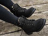 Женские ботинки Timberland Classic Boots Black Winter (с мехом), фото 4