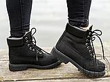 Женские ботинки Timberland Classic Boots Black Winter (с мехом), фото 6