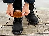Женские ботинки Timberland Classic Boots Black Winter (с мехом), фото 7