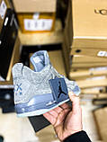 Чоловічі кросівки Air Jordan 4 Retro Kaws Grey (чоловічі Аїр Джордан 4 Ретро Каас Сірий) 930155-003, фото 3