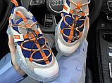Женские кроссовки Jimmy Choo Diamond Trail White Blue Orange, фото 2