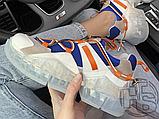 Женские кроссовки Jimmy Choo Diamond Trail White Blue Orange, фото 3