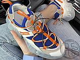 Женские кроссовки Jimmy Choo Diamond Trail White Blue Orange, фото 5