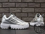 Жіночі кросівки Fila Disruptor II 2 Silver Metallic, фото 2