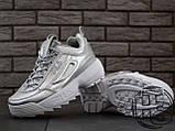 Жіночі кросівки Fila Disruptor II 2 Silver Metallic, фото 3