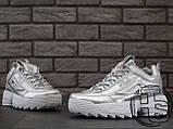 Жіночі кросівки Fila Disruptor II 2 Silver Metallic, фото 4