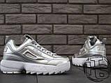 Жіночі кросівки Fila Disruptor II 2 Silver Metallic, фото 8