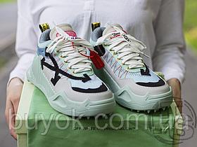 Жіночі кросівки Off-White Odsy-1000 Light Green Blue Grey FW19 OMIA139F19800040B310