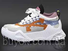Женские кроссовки Off-White Odsy-1000 White Grey Orange SS20 OMIA139S208000420119