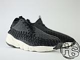 Чоловічі кросівки Nike Air Footscape Woven Chukka SE Black/Grey/White 443686-004, фото 2