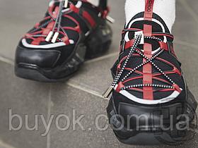 Женские кроссовки Jimmy Choo Diamond Black Red
