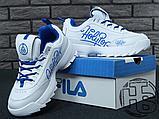 Женские кроссовки Fila Disruptor II 2 HolyPop White/Blue, фото 5