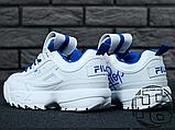Женские кроссовки Fila Disruptor II 2 HolyPop White/Blue, фото 8