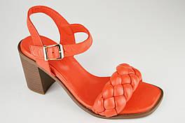 Босоножки с плетением Mario Muzi 1193 37 Коралловый кожа