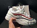 Жіночі кросівки Fila Ray White/Red/Blue, фото 3