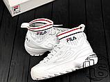 Женские кроссовки Fila Disruptor 2 II Evo Sockfit White FS1HTA1502X, фото 4