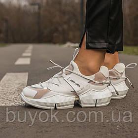 Женские кроссовки Jimmy Choo White Diamond Trail Sneakers (женские Джимми Чу Белый Бриллиант)