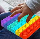 ОПТ Поп іт антистрес вічна пупырка Push Bubble Fidget квадрат сквиш для зняття стресу Pop it, фото 3