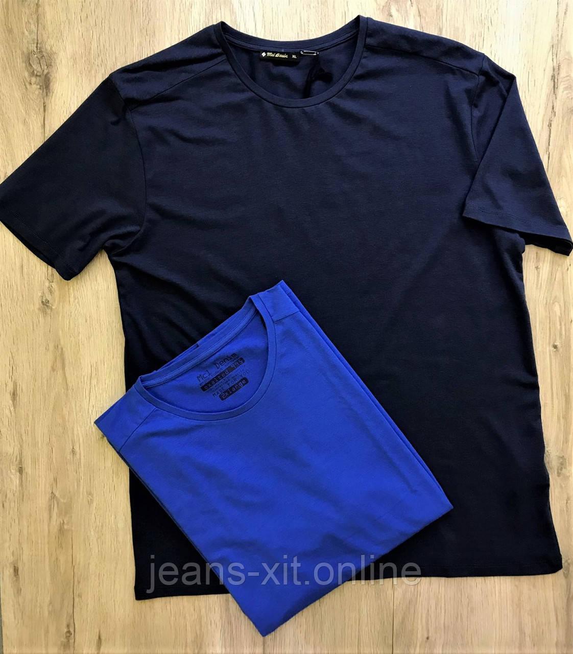 Футболка мужская 3XL(р) темно-синяя 22766 MCL Турция Лето-D