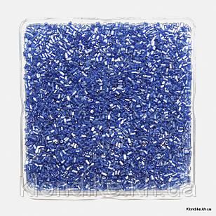 Бисер Рубка с Блеском (5/0), Некалиброванный, Цвет: Тёмно-синий (50 грамм)
