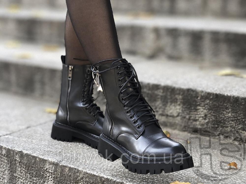 Жіночі черевики Balenciaga Tractor Black 615679WA8E91000 (матові)